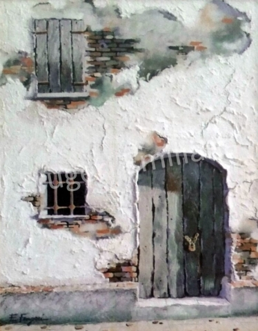 Frugeri Emiliana 264-Via Castellana-40x50-Olio su Tela