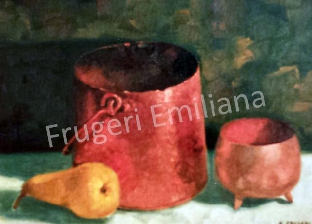 Frugeri Emiliana 148-Natura Morta-30x40-Olio su Tela