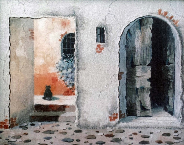 Frugeri Emiliana 170-La mia Liguria-40x50-Olio su Tela