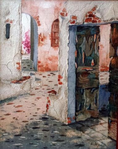 Frugeri Emiliana 193-Borgo degli Arcieri-40x50-Olio su Tela