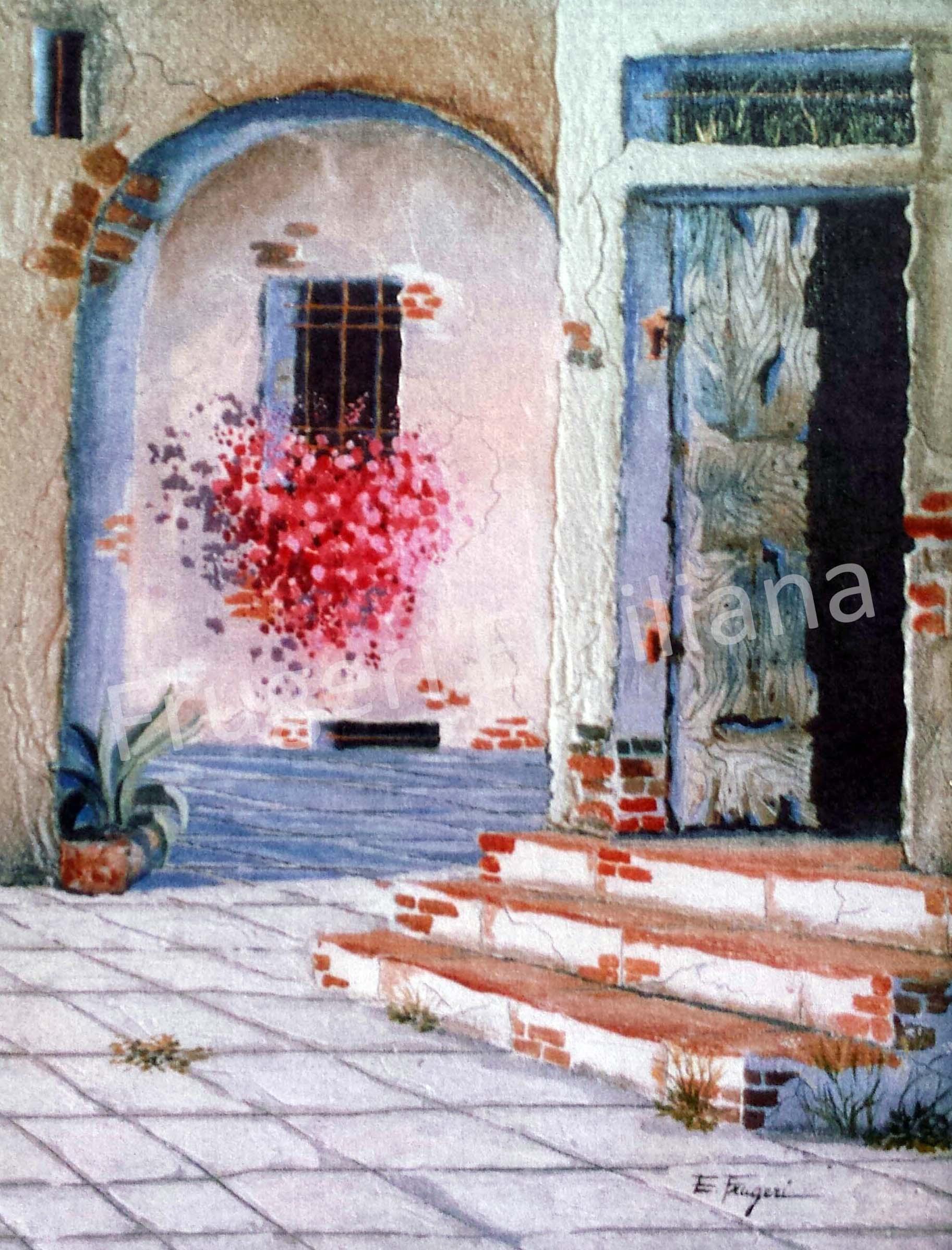 Frugeri Emiliana 216-Verso Casa-40x50-Olio su Tela