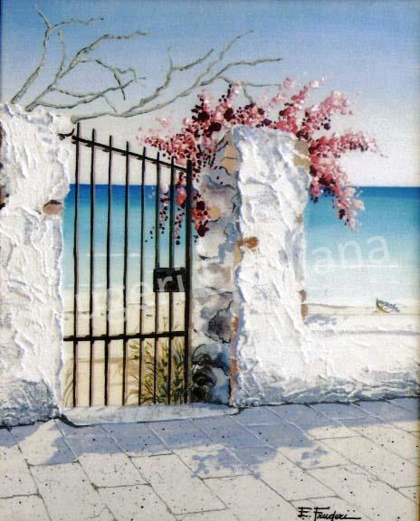 Frugeri Emiliana 327-Costa del Sole-40X50-Olio su Tela